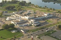 Aerial view of the main Winona Health campus in 2002