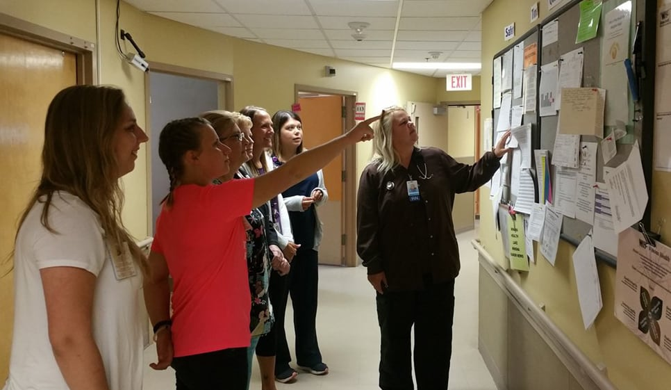 Focus (Huddle) Boards are held daily in over fifty departments org wide.
