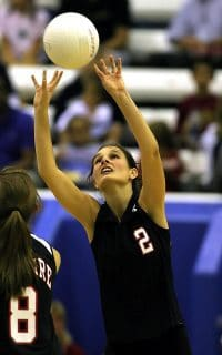 female volleyball player