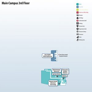 Winona Health Main Campus Map 3rd floor