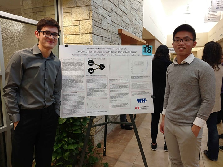 WSU students present their project at Winona Health's 2018 Student Research Fair.
