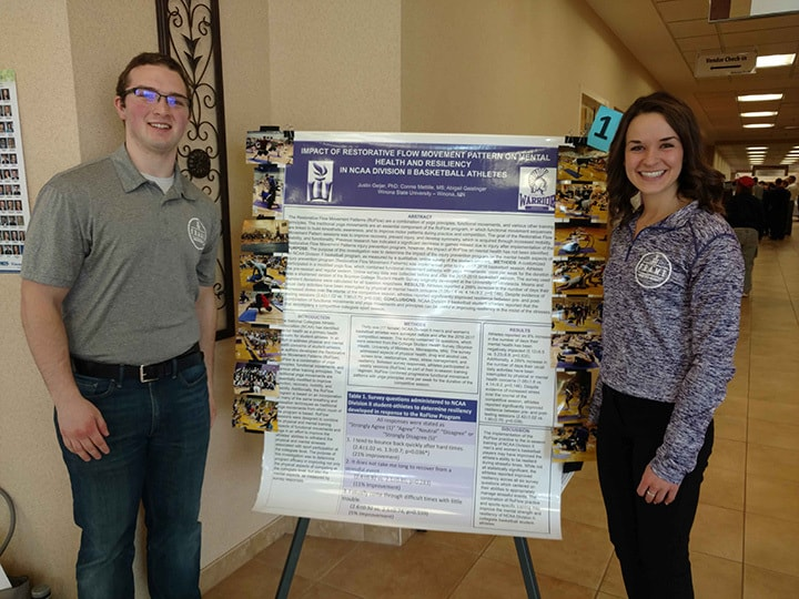 WSU students display their project at Winona Health's 2018 Student Research Fair.