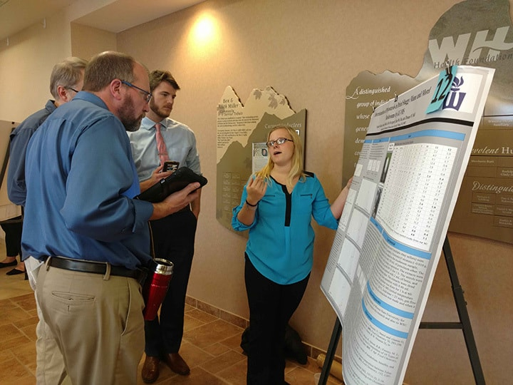 WSU student presents her project at Winona Health's 2018 Student Research Fair