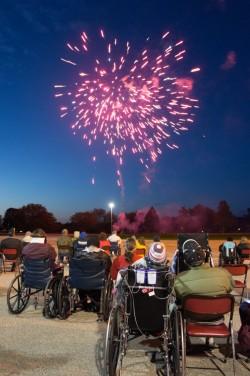 Residents enjoying last year's Lake Winona Manor fireworks.