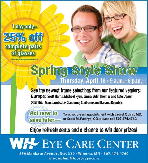EyeCare Spring FrameShow dept image