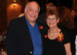 Hugh Miller with Dee Cipov. Cipov received the Winona Health Foundation 2013 Ben & Adith Miller Community Service Tribute at a banquet held in her honor on April 29.