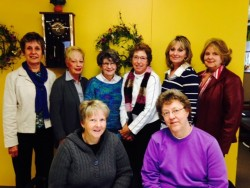 The Winona Health Auxiliary's Mother's Day Springtime Tea committee, pictured back row l to r:  Kathy Shustrom, Jane Palmer, Julieanne Schwemer, Ruth Dalleska, Bonnie Kelly, Bernadette Thicke. Seated l to r: Co-chairs: Carol Partington and Irene Mulyck.