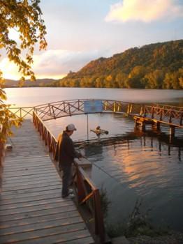Fishing in Lake Winona